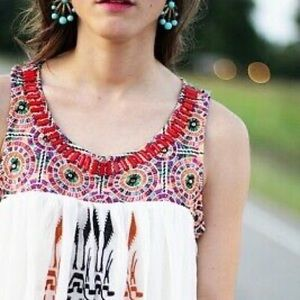 Anthropologie Akemi + Kin Siagaro boho emb Top S